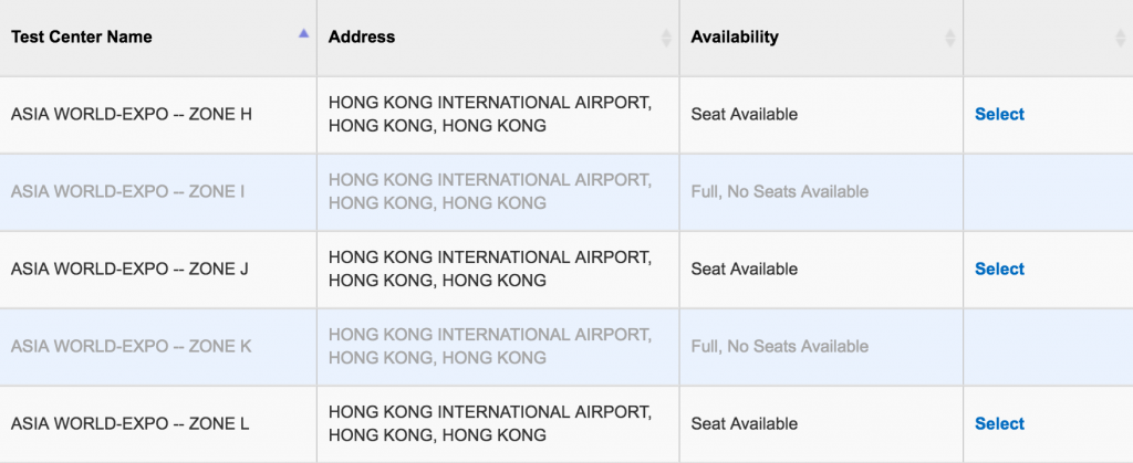 SAT seats Availability in Hong Kong 4