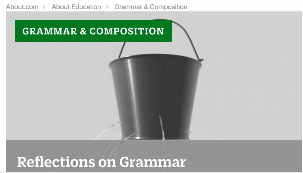 About.com's Grammar Guide